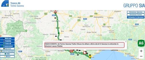 Autostrada ancora nel caos: chiuso nuovamente il tratto dell'A6 tra Altare e Savona