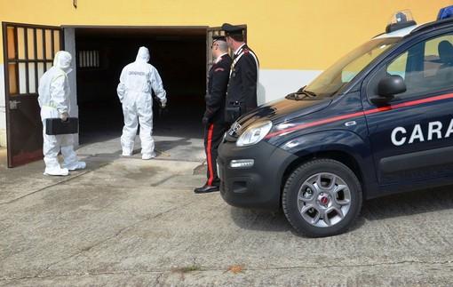 I rilievi dei Carabinieri sul luogo dell'aggressione (archivio)