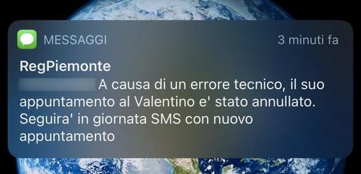 """""""Il suo appuntamento è stato annullato"""": un sms modifica la convocazione per gli open days al Valentino"""