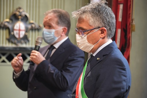 Il sindaco albese Carlo Bo (Ph. Mauro Gallo Foto, Alba)