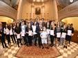 Il gruppo degli studenti premiati (Foto Paolo Destefanis)