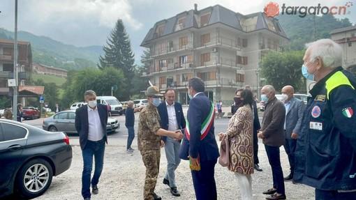 """Il generale Figliuolo a Frabosa Sottana per il progetto """"Montagne Covid Free"""". Sulla scuola:""""Dobbiamo ripartire in presenza""""[FOTO E VIDEO]"""