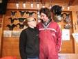 Sara e Matteo nella struttura ufficio dell'azienda a Borgo San Dalmazzo
