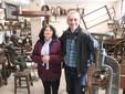 Stefanina e Luigi nel Museo di attrezzi antichi della storia contadina e artigiana
