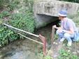 Il canale di arrivo dell'acqua del torrente Pesio