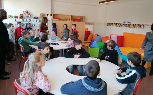L'inaugurazione dell'aula di sostegno realizzata all'elementare Sacco