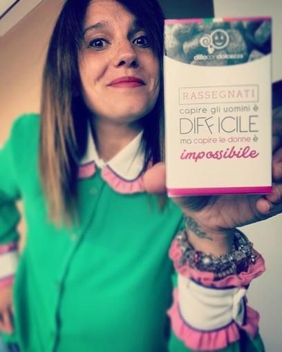 """Daniela Salzotto con una delle sue creazioni di """"Dillo con Dolcezza"""""""