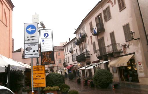 Il varco di piazza Rossetti (foto Comune di Alba)