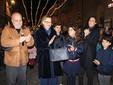 Col il sindaco Marello, Maria Franca Fissolo Ferrero, la nuora Luisa e i nipotini Michael, Marie Eder e John