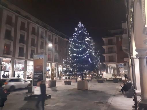 Bra: due alberi di Natale illuminati in città