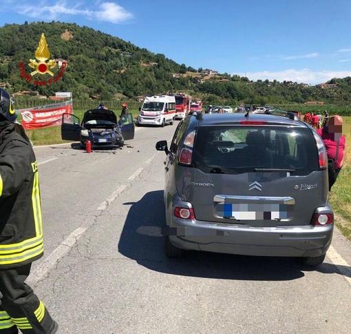 """Due feriti in uno scontro a Busca. Trasportati al """"Santa Croce"""" per accertamenti"""