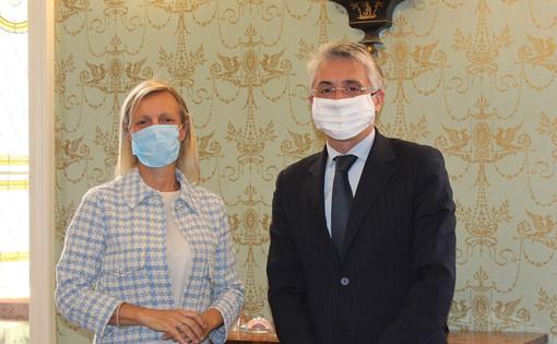 Un'immagine del 10 giugno 2020: la nomina di Carlotta Boffa alla carica di vicesindaco (foto Gisella Divino)