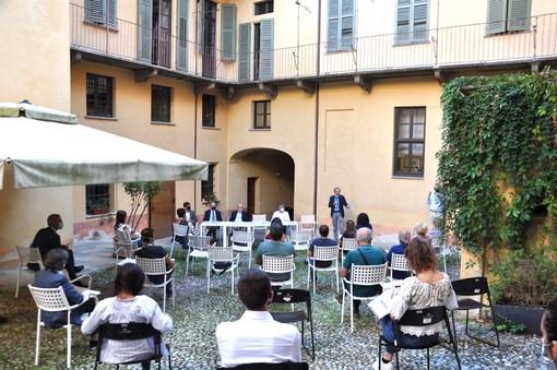 Un momento della presentazione tenuta a Palazzo Mathis