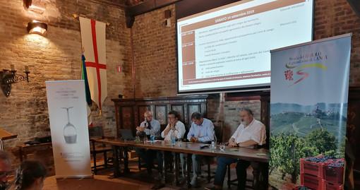 La presentazione dell'iniziativa, ieri nella Sala delle Maschere del castello di Grinzane