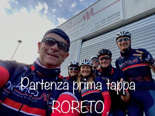 Un gruppo di ciclisti braidesi a Roma per l'Angelus del Papa