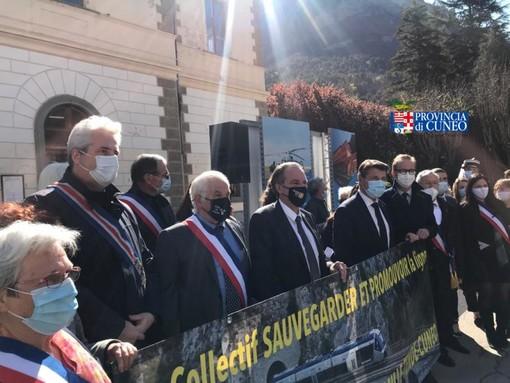 Borgna a Tenda per il collegamento ferroviario Cuneo-Breil-Nizza. Ventimiglia esclusa dai festeggiamenti