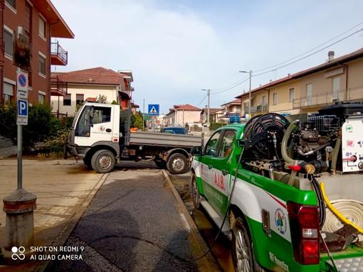 Maltempo: a Canale AIB al lavoro per giorni nella pulizia di strade e piazze