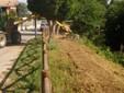 L'intervento di pulizia di parte della riva del Fiume Rovarino