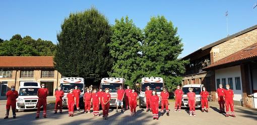La foto di gruppo dei Volontari del Comitato di Racconigi della Croce Rossa Italiana