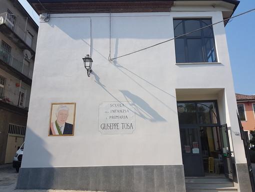 Foto particolare dell'esterno dell'edificio .
