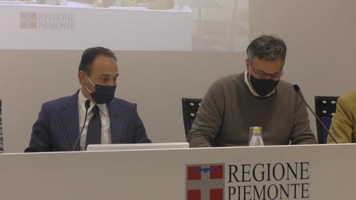 Il presidente Cirio e l'assessore regionale alla Sanità Luigi Icardi
