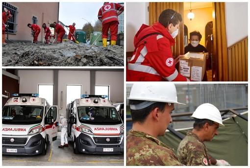 Le immagini delle tante attività della Croce rossa italiana in Piemonte