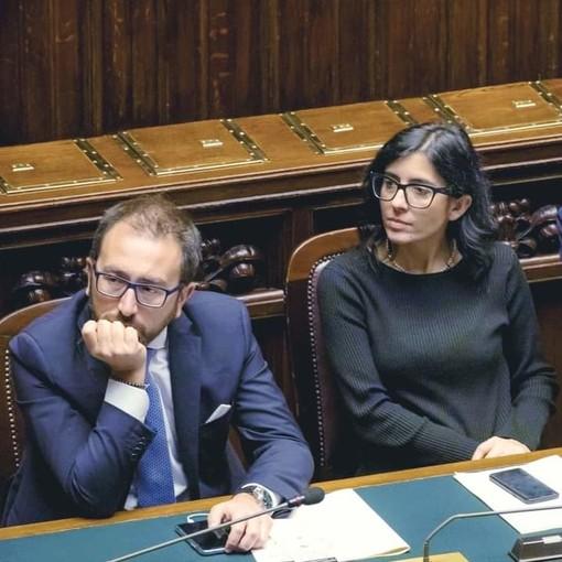 Fabiana Dadone con Alfonso Bonafede
