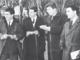 Piero Dardanello (il primo da sinistra) al lavoro, in una foto d'epoca
