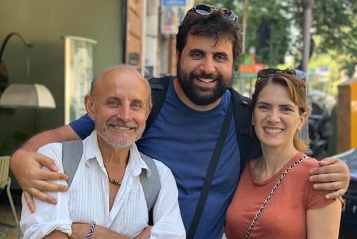 Emanuele Caruso con Giuseppe Cederna e Maya Sansa
