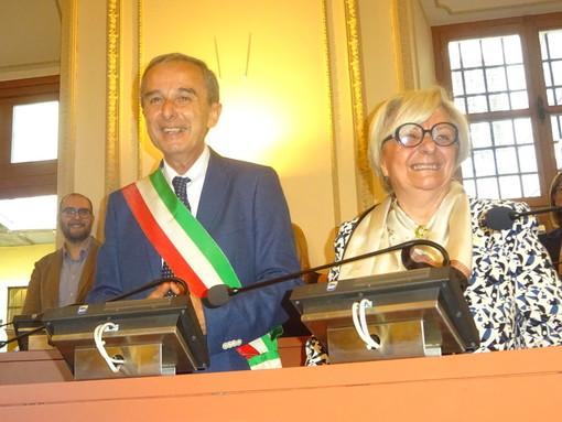 Bruna Sibille con Gianni Fogliato: all'ex sindaco affidata la delega al Servizio Idrico Integrato