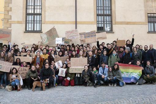 La manifestazione braidese del 1° marzo scorso (dal sito UnisgTable, foto di Elisabeth Fagerland, Adil Latef & Joella)