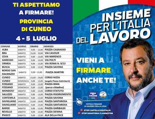Lega Cuneo: il prossimo fine settimana in tutte le principali piazze della provincia
