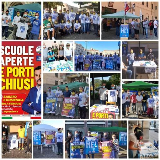 """Un successo la raccolta firme della Lega in provincia Granda: """"Un grido contro un governo che non rappresenta più il popolo italiano"""""""