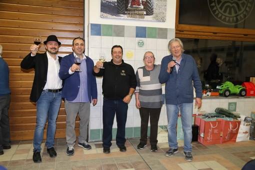 Gruppo di famiglia Dogliotti: da sinistra Marco, Alessandro, Sergio, Bruna e Romano