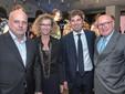 Elena e Giuseppe Miroglio, qui con il sindaco albese Marello e il produttore Bruno Ceretto