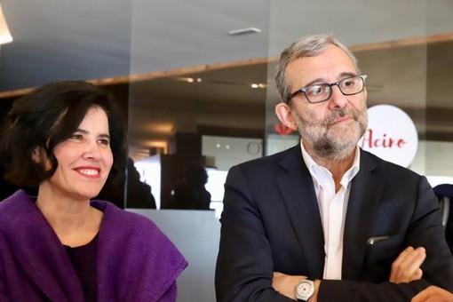 Roberto Giachetti con Marta Giovannini