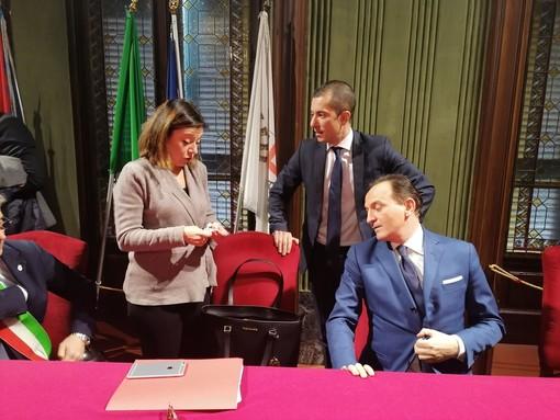 Il ministro De Micheli a confronto col governatore Cirio e l'assessore regionale Gabusi