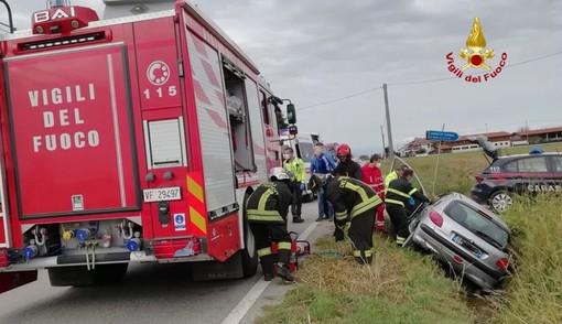 Sant'Albano Stura: incidente sulla provinciale per Mondovì