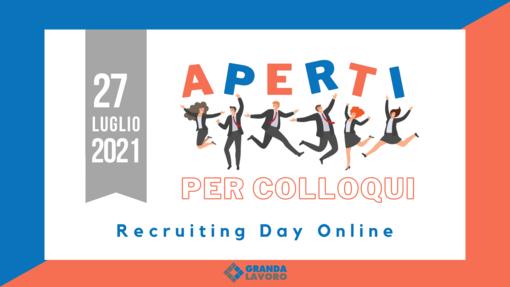 Recruiting Day Online. Ti vogliamo conoscere!