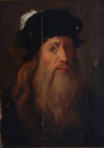 """La """"Tavola Lucana"""", opera considerata un autoritratto di Leonardo Da Vinci (Wikipedia)"""