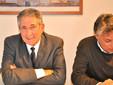 L'assessore e segretario cittadino del Carroccio Marco Marcarino, qui col sindaco Carlo Bo (archivio)