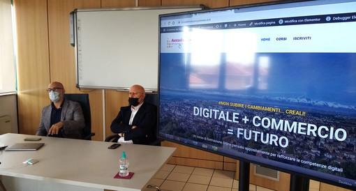 Luigi Barbero e Matteo Dispenza durante la presentazione di questa mattina