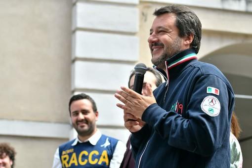 Le immagini del tour di domenica di Marco Racca al fianco di Matteo Salvini
