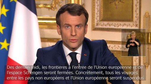 Il discorso di Emmanuel Macron