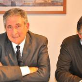L'assessore Marco Marcarino col sindaco Carlo Bo (foto)