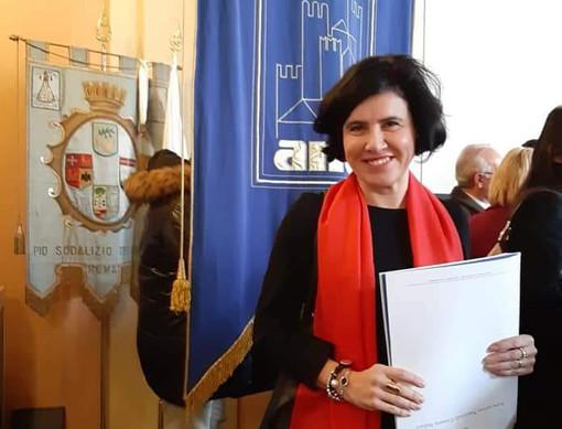 Il sindaco di Verduno Marta Giovannini