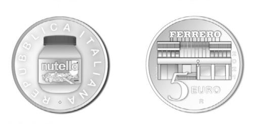 Una moneta da 5 euro per la Nutella