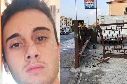 Matteo Muratore, 19 anni. A destra il luogo dell'incidente