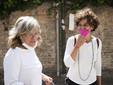 Da sinistra il sindaco Annalisa Ghella ed Elena Pugliese (Foto di Barbara Guazzone)