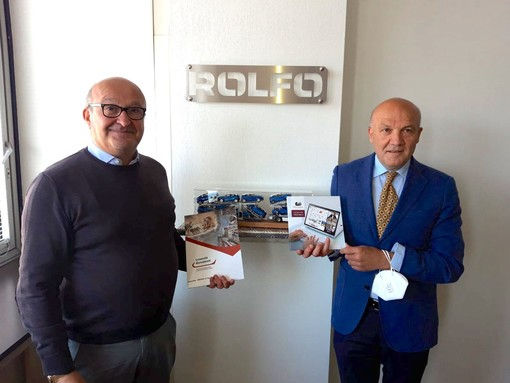 Da sinistra Roberto Rolfo, amministratore delegato di Rolfo Spa, e Carmine Maffettone, direttore delle sedi cuneesi e imperiesi di Pegaso e Mercatorum